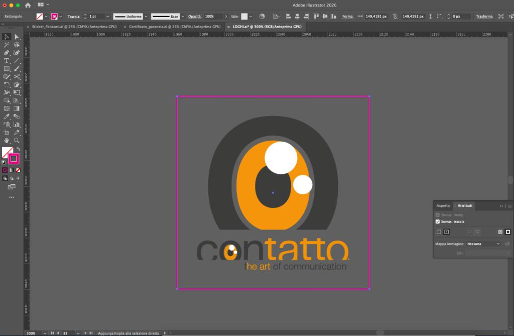 Come inserire sovrastampa traccia in Adobe Illustrator