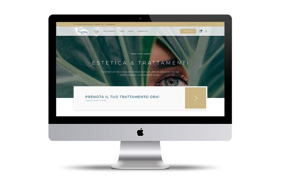 Render del sito Vanity Centro Estetico